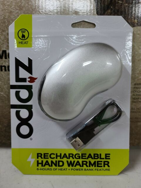 Zippo 6Hr Rechargeable Handwarmer silver power bank feature brand new Hunting