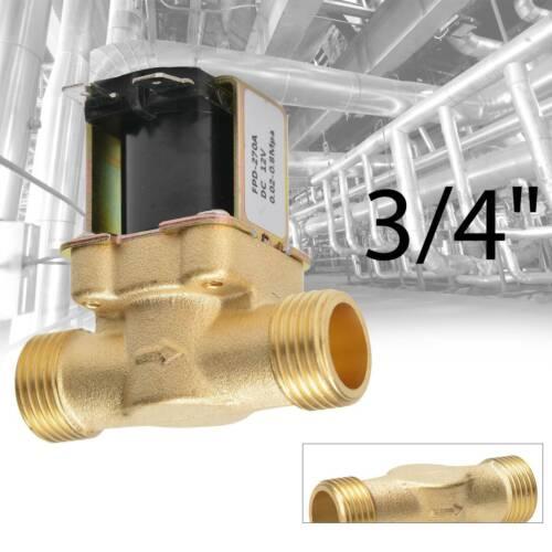 """150°C stromlos geschlossen Magnetventil Messing 2/"""" 230V AC 0-10 bar Viton NC"""