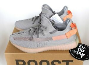Details about Adidas Yeezy Boost 350 V2 True Form Grey Orange UK 3 4 5 6 7 8 9 10 11 12 13 New