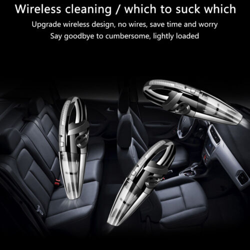 Handheld Cordless Car Vacuum Cleaner Wet/&Dry Dust Cleaner Hoover Home Pet