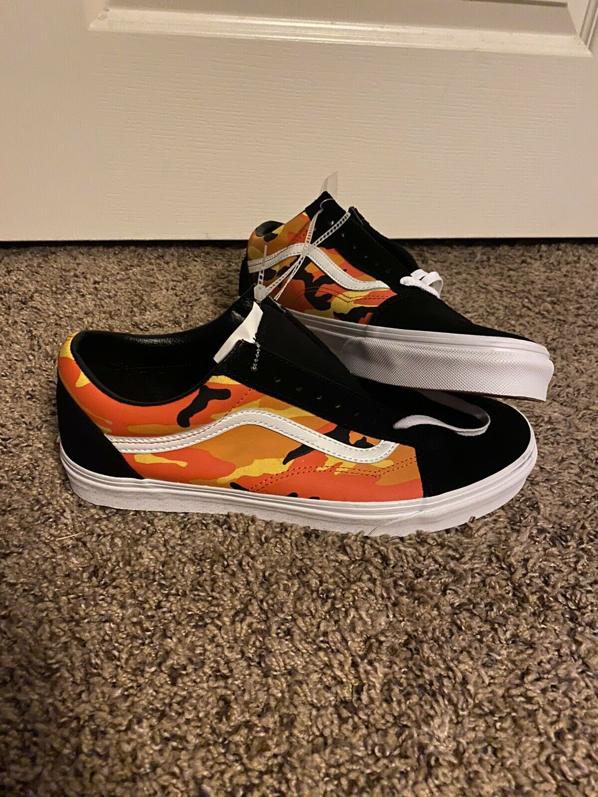 Vans Old Skool Flame Sneakers Men Size 11 Canvas Skater Shoes Casual