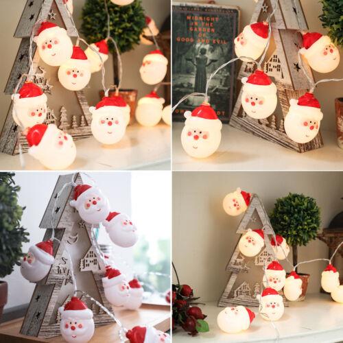 Chriatmas LED Santa Claus String Fairy Lights Xmas Party Home Garden Decor HOT
