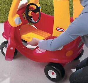 Little Tikes Cozy Coupe Red & Yellow Classic Kids Ride-On Indoor Outdoor Car