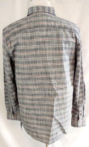 American Rag Mens XL Casual Dress Shirt Long Sleeve Button Down Blue Stripe