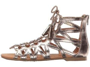 a75898e71a5a Image is loading BIG-GIRL-REPORT-CELESTE-PEWTER-GLADIATOR-SANDALS-SIZE-
