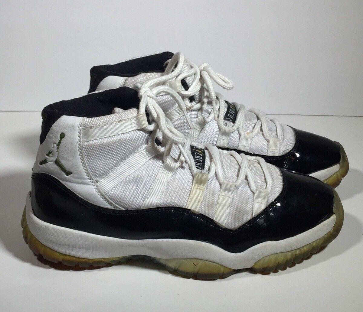 2006 Nike Air Jordan XI Retro DMP gold Concord Authentic 136046-171 Mens Sz 9.5