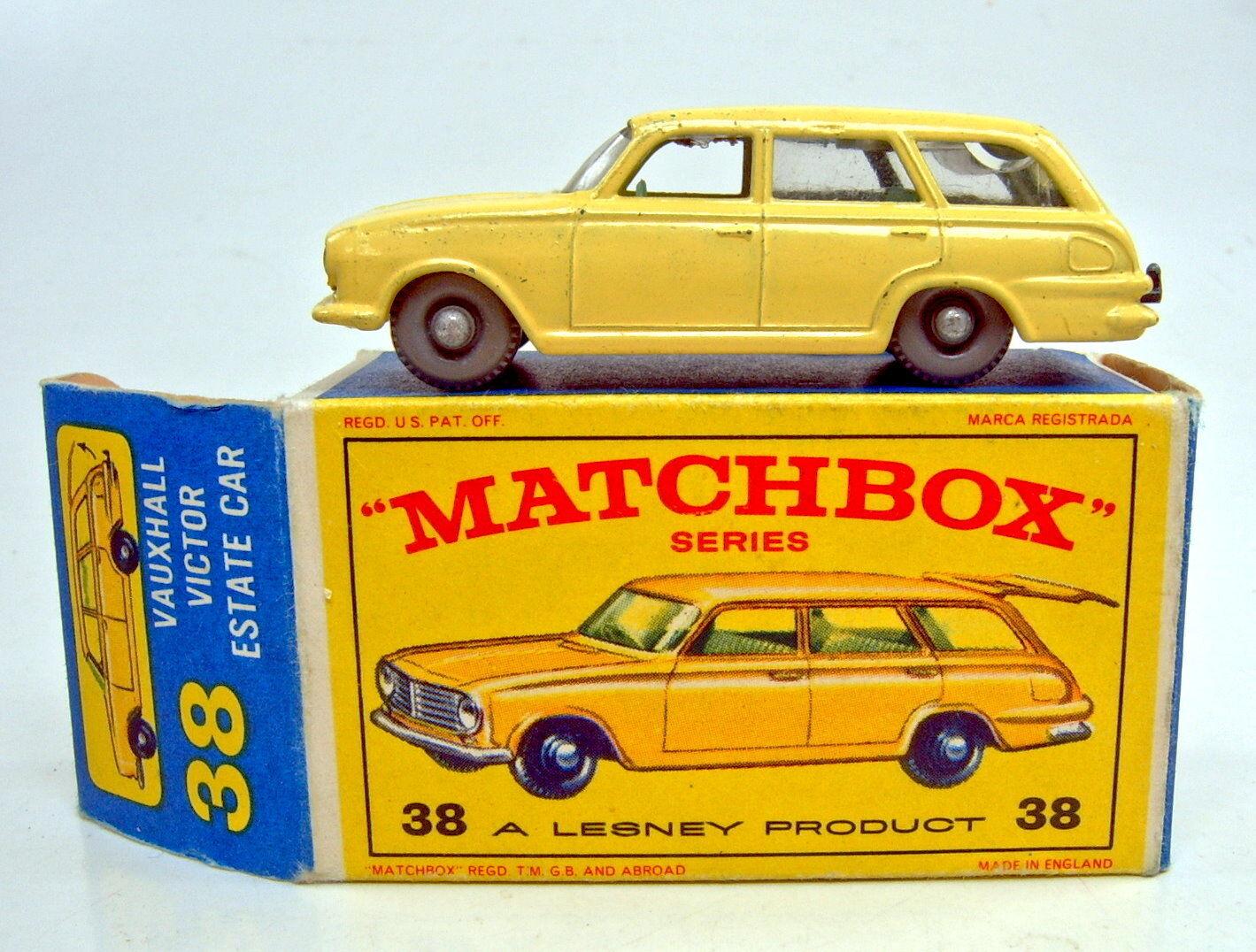 MATCHBOX RW 38b Vauxhall Victor GIALLO RUOTE GRIGIE VERDI IE in