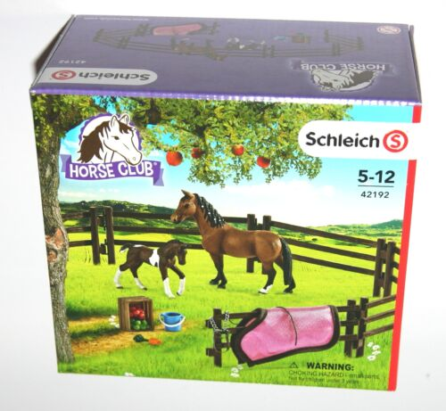 Paddock Fence Playset with Horses 42192 Schleich * New Boxed *