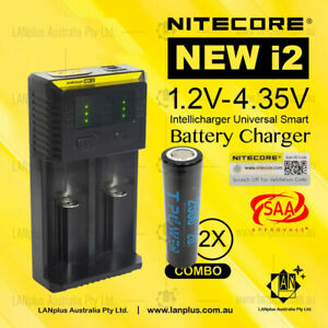 Nitecor-New-I2-Charger-2x-2500mAh-35A-Lithuim-Rechargeable-18650-Battery