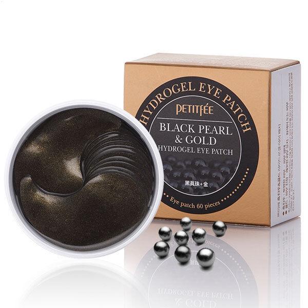Resultado de imagem para Petitfee Black Pearl & Gold Hydrogel Eye Patch (60 Sheet)