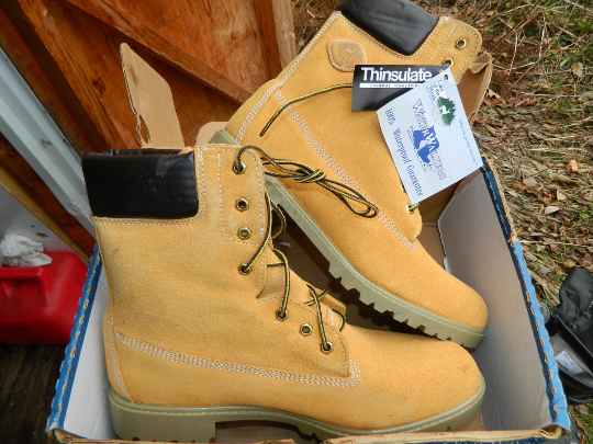Deadstock 90's Lake Of The Woods Isolé Travail Bottes Souple Bout Imperméable 13