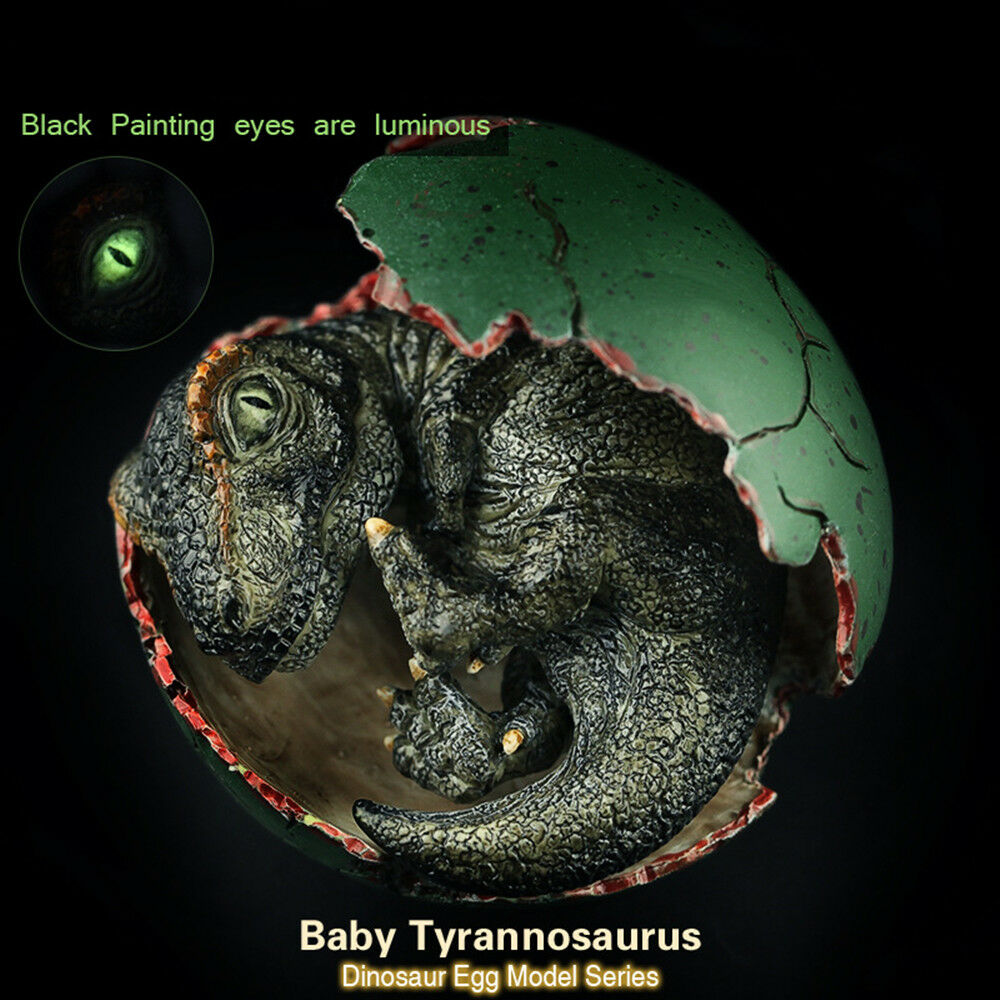 Dinosaur Egg Tyrannosaurus Tyrannosaurus Tyrannosaurus Baby T-rex Glow Figure Model Toy Collector Decoration b3650b