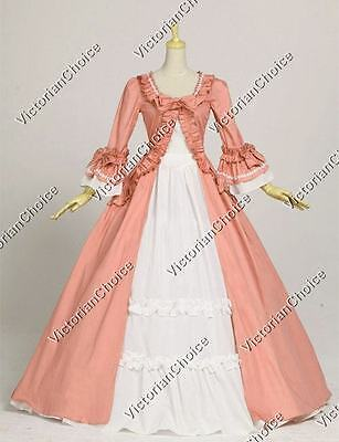 Renaissance Victorian Dress Ball Gown Reenactment Theater Period Clothing 257 M