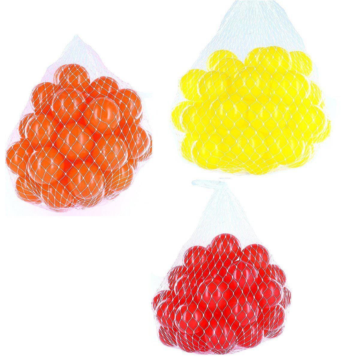 150-9000 Bagno di palline palle 55mm mix rosso Giallo Arancione Misto Colorei