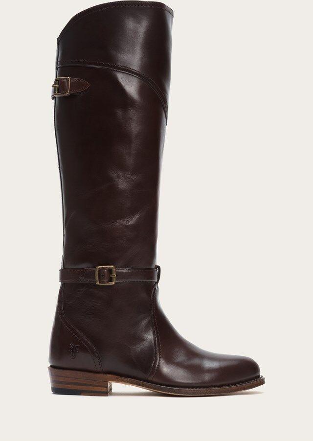 NEW FRYE 458 Schuhe DARK BROWN DORADO RIDING LEATHER Stiefel Schuhe 458 SZ 5.5 1e4a54