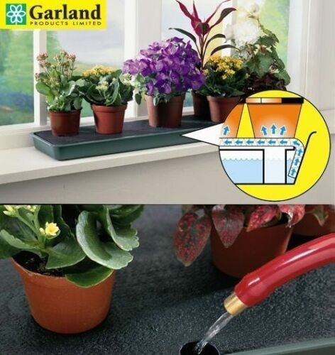 Good LARGE 3.4 LITRE CAPACITY SELF WATERING WINDOWSILL POT PLANT TRAY KIT