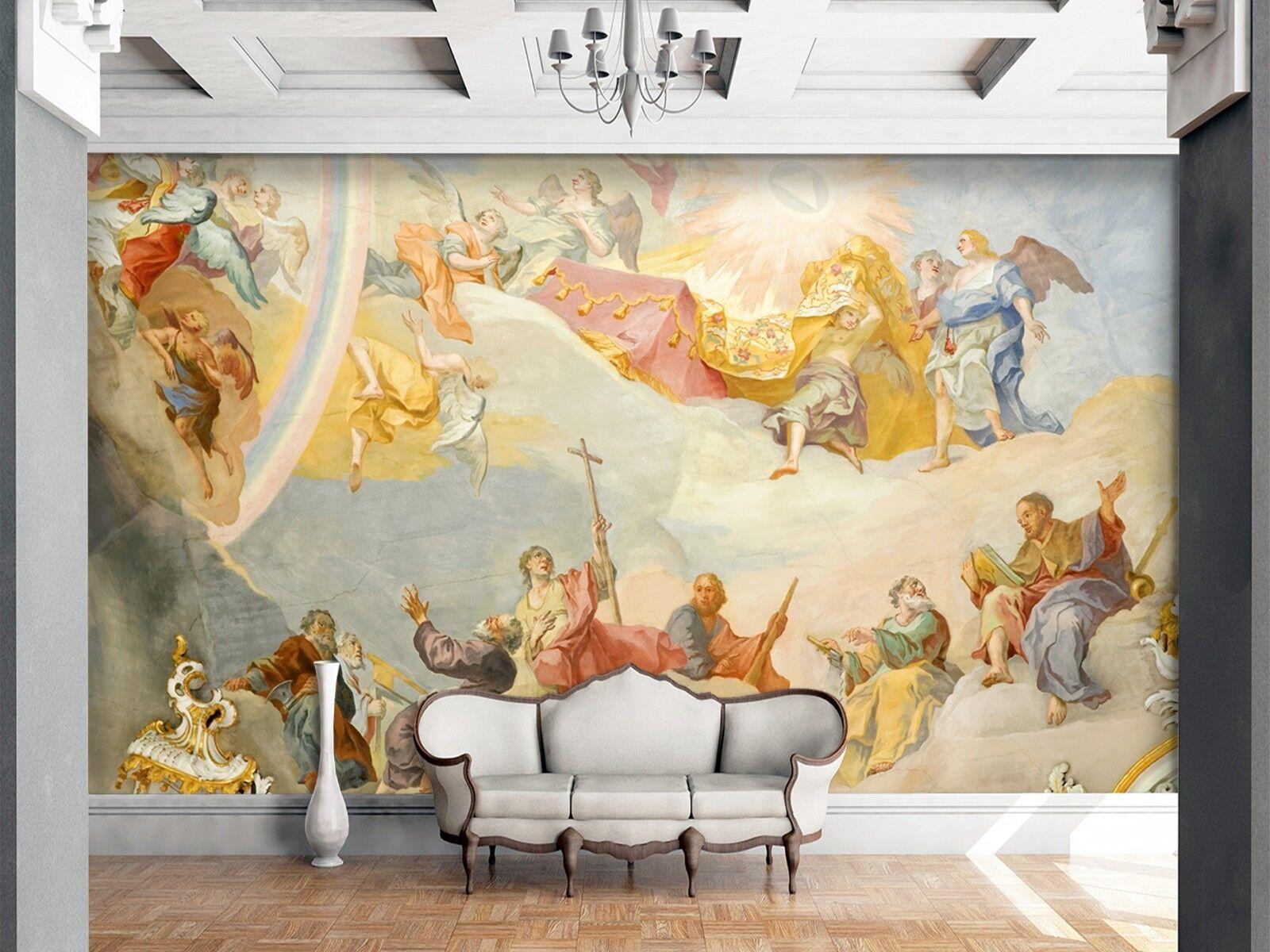 3D Europa Kirche Malerei 78 Tapete Wandgemälde Tapete Tapeten Familie Kinde DE