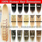 Factory Price Clip in Real 100% Remy Human Hair Extensions 15-22inch Full Head