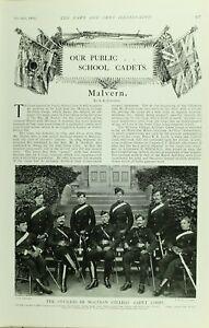 1902-PRINT-PUBLIC-SCHOOL-CADETS-MALVERN-OFFICERS-1st-WORCESTER-ROYAL-GARRISON
