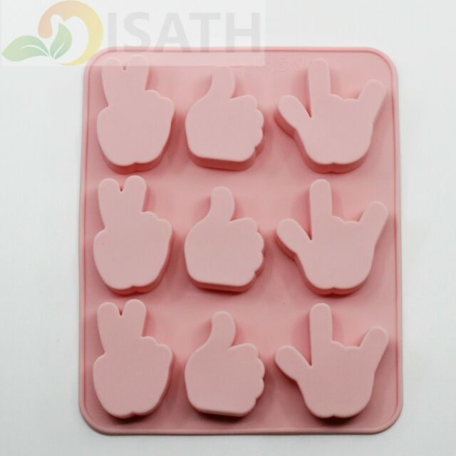 Gesture Silicone Soap mold Candy Chocolate Fondant Tray ICE Cube
