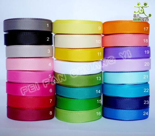 "5 metres Grosgrain RIBBON 1//2/""13mm 24 color options U pick high quality"
