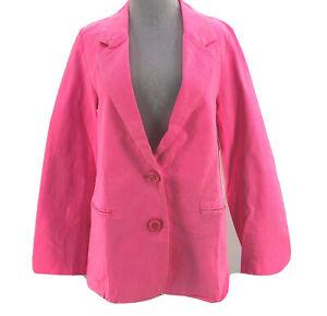 Line & Dot Women's Neon Pink Long Sleeve Blazer Jacket Size Medium NEW
