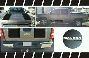 Details About Z71 2007 2008 2009 Chevy Silverado Hood Tail Stripe Decals Rally 2 Styles 2500