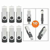 10pack 1g/2g/4g/8g/16g Usb Flash Drive Swivel Thumb Memory Stick Flash Pen Drive