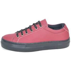 Sneakers bassa in pelle gommata bordeaux linea basic fondo antishock