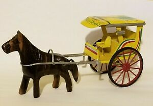 Vintage-Horse-Drawn-Carriage-Iron-Made-in-Philippines-9-034-Long