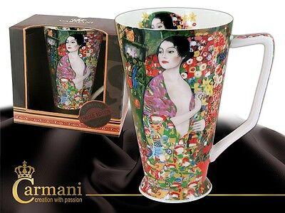 "Gustav Klimt Edle große Tasse  "" Tänzerin "" Carmani Art Gallery 0,45 l"