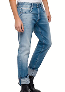 Mens Replay Jeans Grover 33 x 34 Straight  Fit  New Authentic