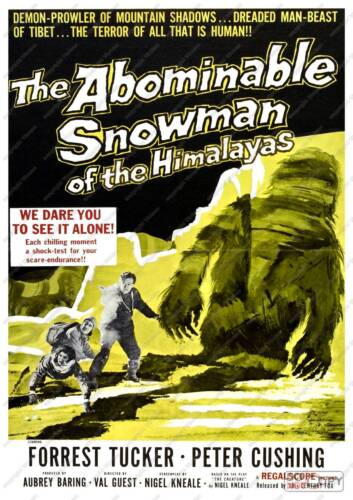 Vintage Film  Poster reproduction The Abominable snowman