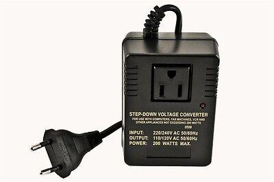 Special Useful Recommended US to EU INT'L VOL CONVERTER 240V/220V TO 120V/110V