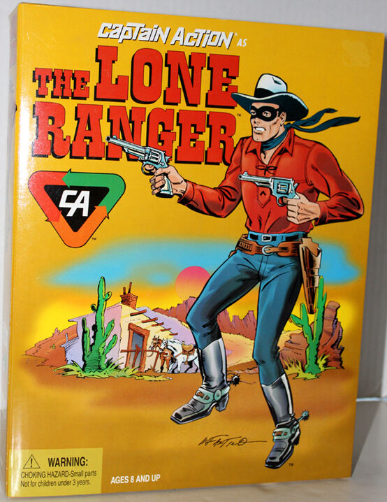 CAPTAIN ACTION HERO SERIES LONE RANGER WESTERN COWBOY TOY FIGURE MIB 1998 SET