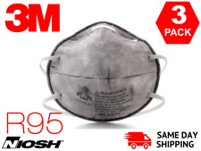 3 Pieces 3m 8247 R95 Particulate Respirator Protective Mask N95 Niosh