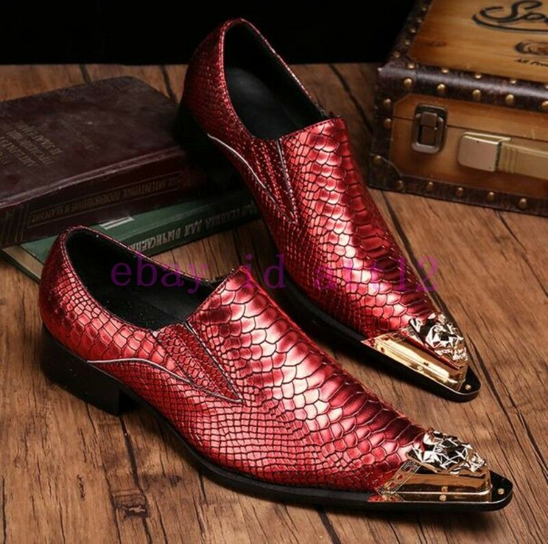 Vogue Uomo Groom Wedding Dress Metal Pointy Toe Business Genuine Genuine Genuine Pelle Shoes 9297f4