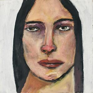 Ya-Can-039-t-Fix-Stupid-Oil-Portrait-Painting-OOAK-Original-Art-Katie-Jeanne-Wood
