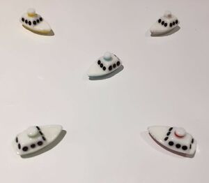 5 PCS New Stylish Glass Ornamental Boat