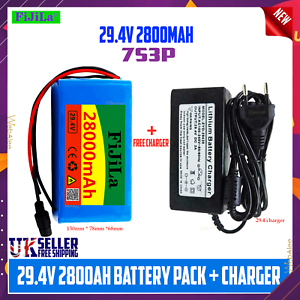 Li-ion Battery Pack For E-bike Electric Scooter 24v 28ah 7s3p With BMS + Charger