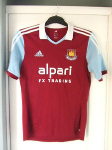 cheap for discount 0efed fe7e7 Details about West Ham United No 11 Home Football Shirt Alpari FX Trading  Size 36