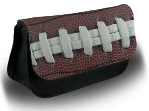 Football Americano Palla Make Up Borsa Custodia Per Trucco Cosmetici Rugby presenti USA D736