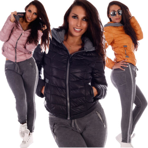 Hooded Zipper matelassée dames Big pour Veste q4wXgp