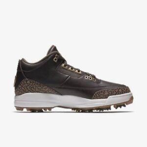 edb82f76170b Nike Air Jordan 3 Premium Brown Bronze Golf Shoes Size 9.5 DS Brand ...