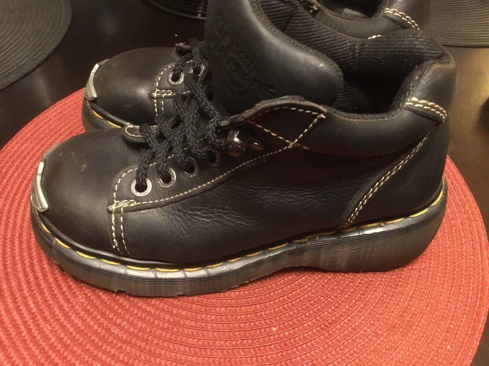 DR. MARTENS Women's Ankle Boots Harley Davidson 8542 Black Leather Size 5 US