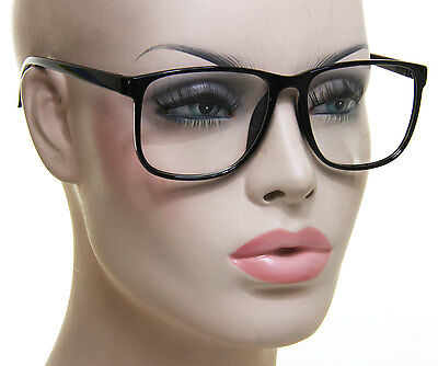 Black Square Eyeglasses Fashion Clear Lens Designer Celebrity Men Women
