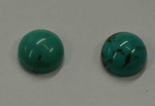 2pcs Natural Chinese Turquoise Round Cabochon 4mm 5mm 6mm 7mm 8mm 10mm Gemstones