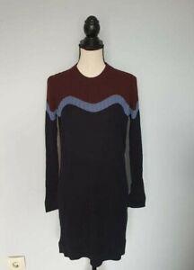 Damen-COS-SBlau-Lila-Dress-Kleider-Langarm-Gr-M