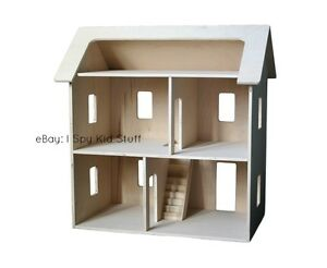 Image Is Loading AMISH Wood Doll House DOLLHOUSE Toy Wooden Doll