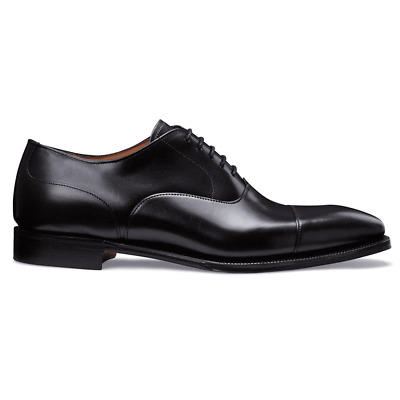 4f23912541884 Details about Cheaney Redmond Capped Oxford in Black Calf Leather